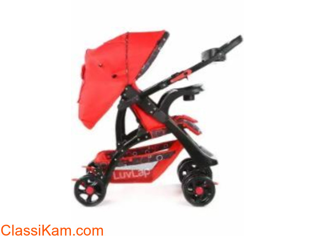 LuvLap Sports Stroller /Pram, Red color - 1