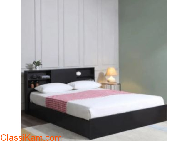 Brand New Tanaji Bed in Brown Color - 1