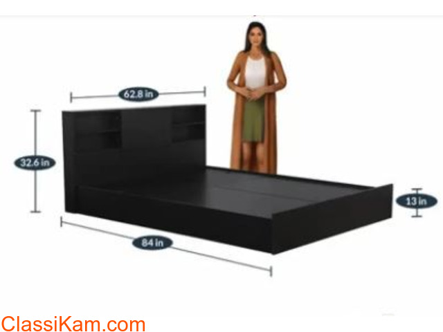 Brand New Tanaji Bed in Brown Color - 2