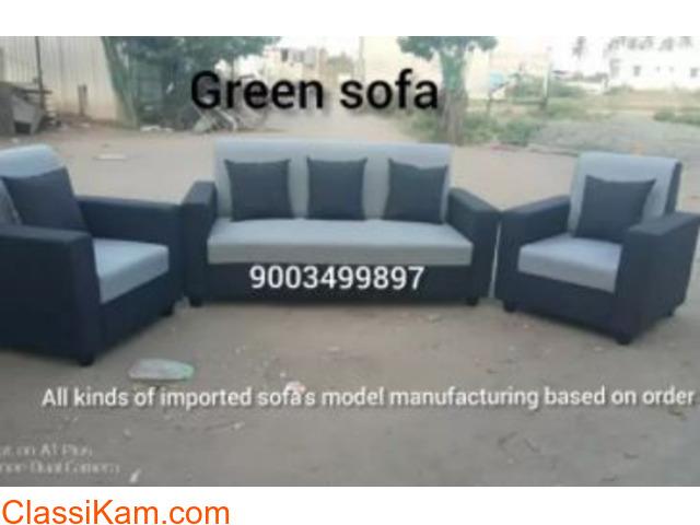 Sofa 3+1+1 pillows sofa set - 1
