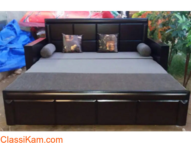 New wooden designer sofa cum bed - 1