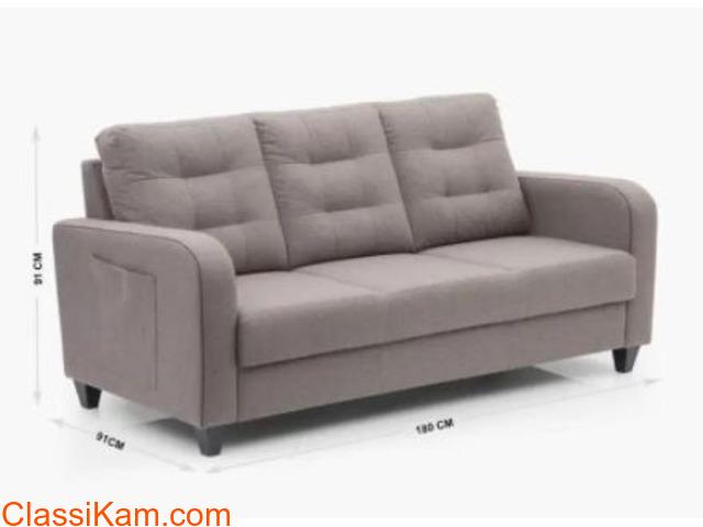 Montoya Serene Sofa Set in Brown Color - 1