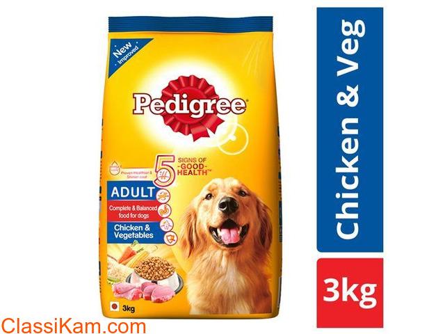 Pedigree Adult Chicken and Vegetables 3kg Pack Dry petfood - 1